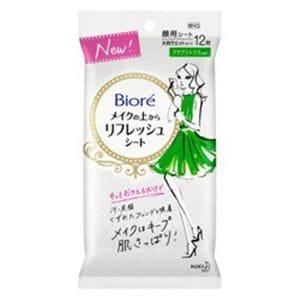 花王 Biore(ビオレ)メイクの上からリフレッシュシート アクアシトラスの香り 携帯用 12枚