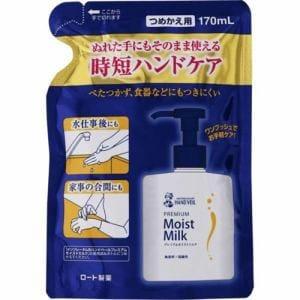 ロート製薬(ROHTO) メンソレータム ハンドベール (MENTHOLATUM HAND VEIL) プレミアムモイストミルク つめかえ用 (170mL)