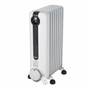 デロンギ JRE0812 オイルヒーター(8~10畳) ピュアホワイト/ブラック