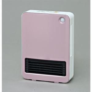 アイリスオーヤマ KJCH-125T-P 人感センサー付きセラミックファンヒーター マイコン式 ピンク