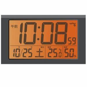 セイコークロック NR523W PYXIS スーパーライデン 大音量電波目覚し時計 白パール塗装 ベル音アラーム(スヌーズ付)