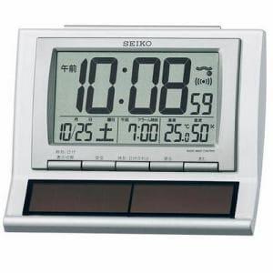 セイコー SQ751W デジタル目覚まし時計 電波クロック ハイブリッドソーラー