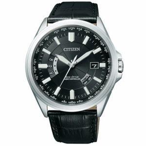 シチズン CB0011-18E エコ・ドライブ電波時計 多局受信型 針表示式
