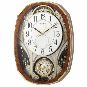 リズム時計 4MN513RH23 からくり時計 スモールワールドノエルM 木目仕上