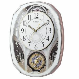 リズム時計 4MN513RH03 からくり時計 スモールワールドノエルM 白