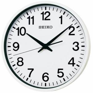 セイコークロック GP201W 衛星電波掛時計  白塗装