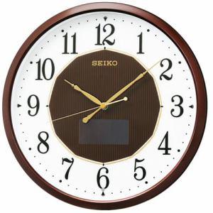 セイコークロック SF241B ハイブリッドソーラー電波掛時計  茶メタリック塗装
