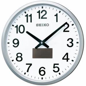 セイコークロック SF242S ハイブリッドソーラー電波掛時計  銀色メタリック塗装