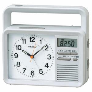 セイコークロック KR885N 防災クロック 生活防水 AM/FMラジオ LEDライト 手動充電 携帯・スマホ充電機能付