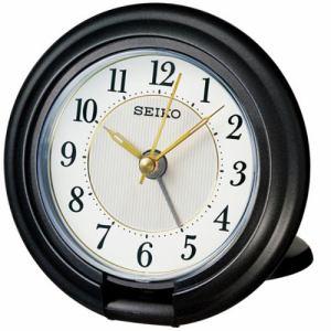 セイコークロック QQ637K 目覚まし時計  黒メタリック塗装