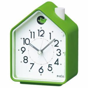 セイコークロック NR434M 目覚まし時計 PYXIS  緑塗装