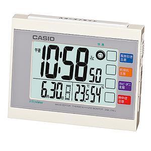 カシオ DQL-210J-7JF 置時計 ホワイト 目覚まし電波時計