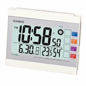 カシオ DQL-220J-7JF 置時計 ホワイト 目覚まし電波時計