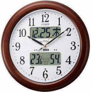 リズム時計 4FY620-006 掛時計 インフォームナビEX 茶色半艶仕上