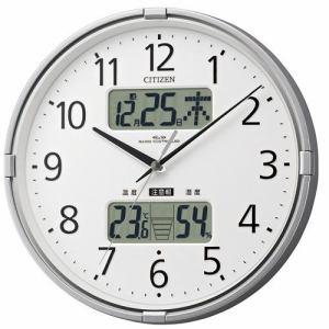 リズム時計 4FY618-019 掛時計 インフォームナビF シルバーメタリック色