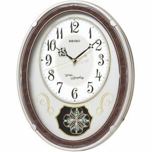 セイコークロック AM258B 電波クロック アミューズ時計 ステップ秒針 飾り振り子
