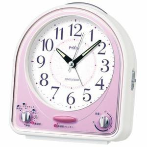 セイコークロック NR435P PYXIS 目覚し時計 メロディアラーム(スヌーズ付) スイープ秒針 ライト付