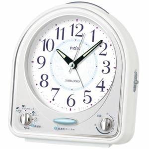 セイコークロック NR435W PYXIS 目覚し時計 メロディアラーム(スヌーズ付) スイープ秒針 ライト付