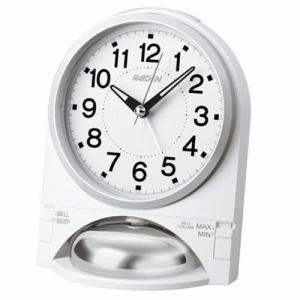 セイコークロック NR436W 目覚まし時計 RAIDEN 白パール塗装