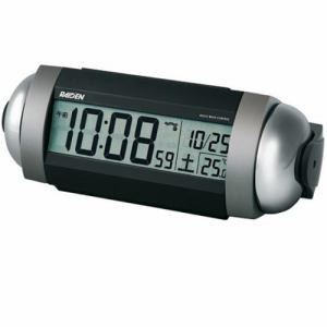 セイコークロック NR530S 電波目覚まし時計 RAIDEN 銀色メタリック塗装