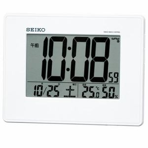 セイコー SQ770W 目ざまし時計 電波クロック 掛置兼用
