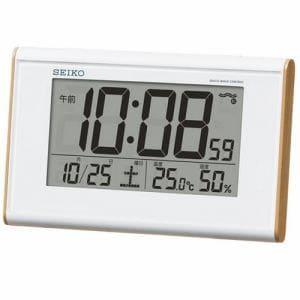 セイコー SQ771B 目ざまし時計 電波クロック 温湿度表示