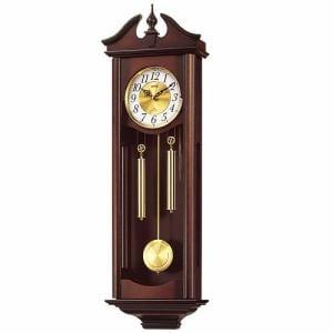 リズム時計 4MJ742RH06 からくり時計 キャロラインR 濃茶木地仕上
