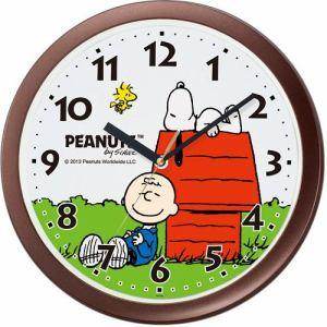 リズム時計 4KG712MA06 掛時計 キャラクターカケトケイ 茶メタリック色