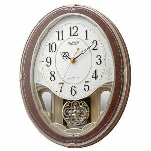 リズム時計 4MN520RH23 からくり時計 スモールワールドハイム 木目仕上