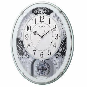 リズム時計 4MN523RH05 からくり時計 スモールワールドプラウド 緑メタリック色