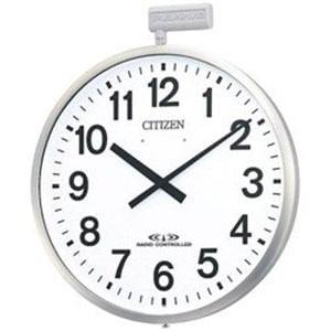 リズム時計 屋外用電波掛時計「ポールウェーブSF」 4MY611-N19