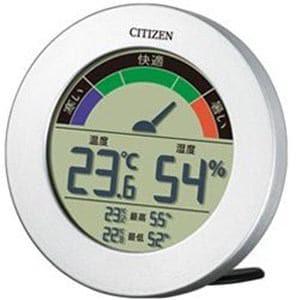 リズム時計 温湿度計 「ライフナビ」 8RDA67-B19(シルバー)