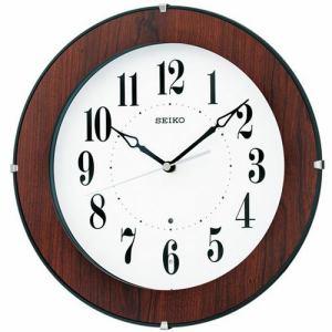 セイコー KX392B 掛け時計 電波クロック 木枠(茶木目模様)