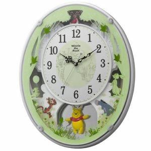 リズム時計 4MN523MC03 からくり時計 クマノプーサンM523 白パール色