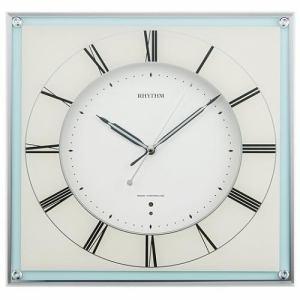 リズム時計 8MY499SR04 ミレディマリン 電波掛時計
