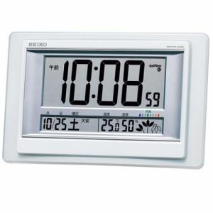 セイコークロック SQ432W 快適度表示付電波デジタル時計 高精度温度・湿度表示 六曜表示 掛置兼用