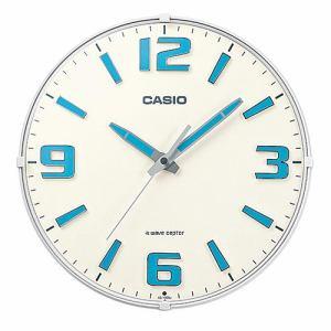 カシオ IQ-1009J-7JF 電波掛時計 秒針止機能 ネオブライト塗装(時分針)