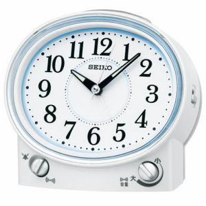 セイコークロック KR892W スタンダード 目覚し時計 ベル音・電子音切替式アラーム(スヌーズ付) スイープセコンド ライト付