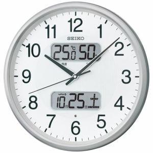 セイコークロック KX383S 電波掛時計 温度・湿度表示付 ステップセコンド