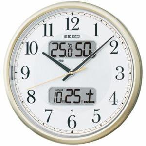 セイコークロック KX384S スタンダード 電波掛時計 温度・湿度表示 おやすみ秒針 夜間自動点灯ライト付