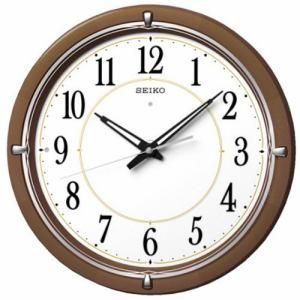 セイコークロック KX395B 電波掛時計 木枠(茶木地塗装) スイープセコンド おやすみ秒針 自動点灯ライト