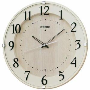 セイコークロック KX397A スタンダード 電波掛時計 アイボリー塗装 ステップセコンド おやすみ秒針