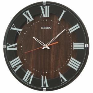 セイコークロック KX397B スタンダード 電波掛時計 濃茶塗装 ステップセコンド おやすみ秒針機能付