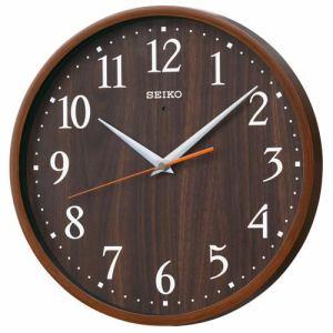 セイコークロック KX399B 電波掛時計 ステップセコンド プラスチック枠(濃茶木目模様塗装)