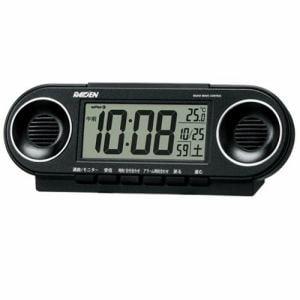 セイコークロック NR531K PYXIS スーパーライデン 電波目覚し時計 温度表示 大音量アラーム(12パターン) スヌーズ付