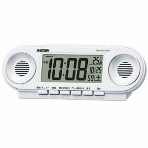 セイコークロック NR531W PYXIS スーパーライデン 電波目覚し時計 温度表示 大音量アラーム(12パターン) スヌーズ付
