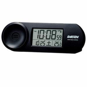 セイコークロック NR532K PYXIS ライデン 電波目覚し時計 温度表示 大音量電子音アラーム(スヌーズ付) ライト付