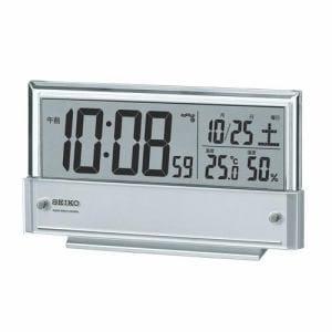 セイコークロック SQ773S 電波クロック デジタル表示 温湿度表示 シースルー液晶 ライト付