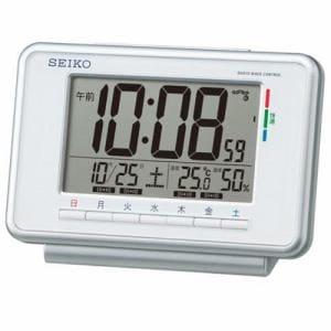 セイコークロック SQ775W 快適度表示付デジタル時計 電波掛時計 温湿度表示 ウィークリーアラーム機能(スヌーズ付) ライト付
