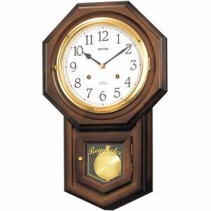 リズム時計 4MJ770RH06 からくり時計 フィオリータR 茶色半艶仕上